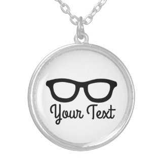 Smart Glasses Silver Plated Necklace