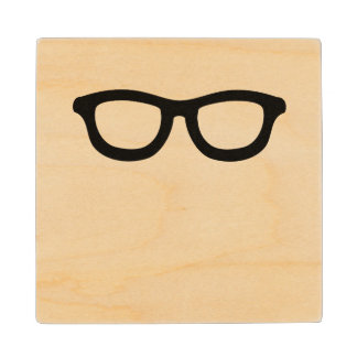 Smart Glasses Wood Coaster