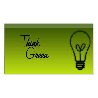 Smart Green Pack Of Standard Business Cards