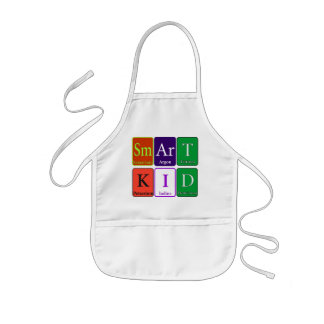 Smart Kid Apron written in the Periodic Elements