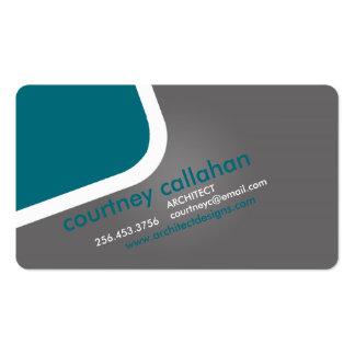 Smart marketing turquoise standard business card