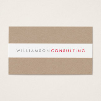 SMART MASCULINE modern type layout eco kraft Business Card