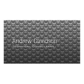 Smart metallic honeycomb vector business card