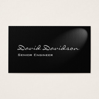 Smart metallic mesh in spotlight business card
