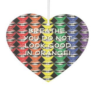 Smart Mouth Mantra Rainbow Lips Keeping It 100 Car Air Freshener