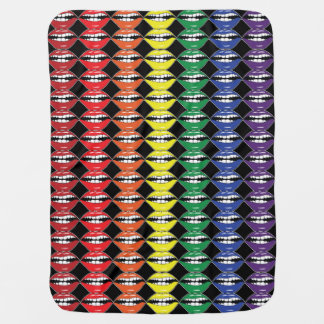Smart Mouth Rainbow Lips Double Sided Baby Blanket