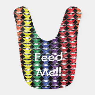 Smart Mouth Rainbow Lips Feed Me Bib