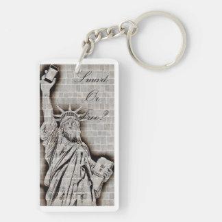 Smart or free key ring Double-Sided rectangular acrylic key ring
