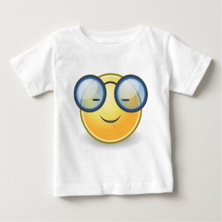 Smart Orange Smiley Glasses Baby T-Shirt