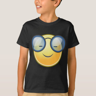 Smart Orange Smiley Glasses T-Shirt