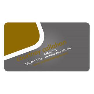 Smart orange standard business card