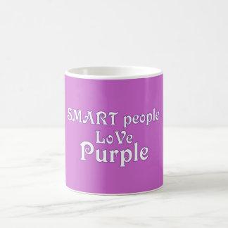 Smart People Love Purple Coffee Mug