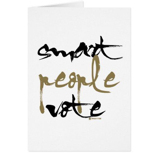 Smart People Vote Card