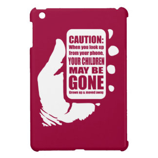 Smart Phone Caution iPad Mini Case
