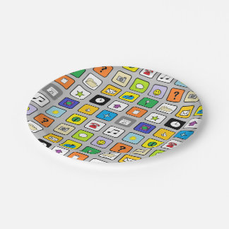 """""""Smart Phone"""" Paper Plates 7 Inch Paper Plate"""