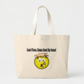 Smart Phone, Shame About the Owner Comedy Shirt Jumbo Tote Bag