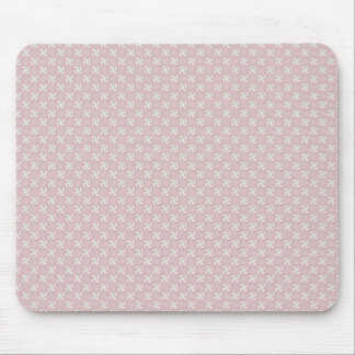 Smart pink flower with wavy petals on rough white mousepad