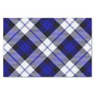 smart plaid blue tissue paper