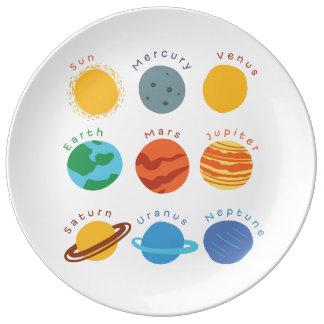 "Smart plate ""Solar system"" Porcelain Plate"