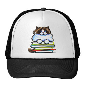 Smart Ragdoll Kitty Books Cap