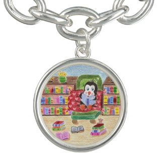 Smart reading penguin charm bracelet