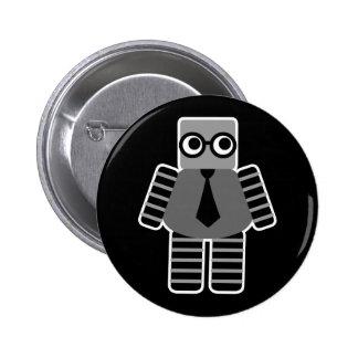 Smart Robot 6 Cm Round Badge