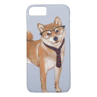 Smart Shiba Inu (Background Color Editable) iPhone 8/7 Case