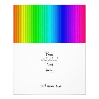 smart stripes,rainbow 11.5 cm x 14 cm flyer