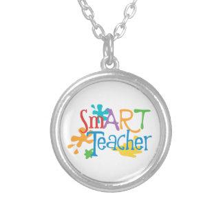 smART Teacher for the Art Teacher Round Pendant Necklace