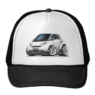 Smart White Car Cap