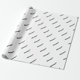 Smarted Conceptual Typographic Design Wrapping Paper