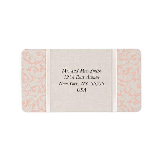 SmartElegance Coral Address Lables Address Label