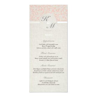 SmartElegance Coral Wedding Menu Card