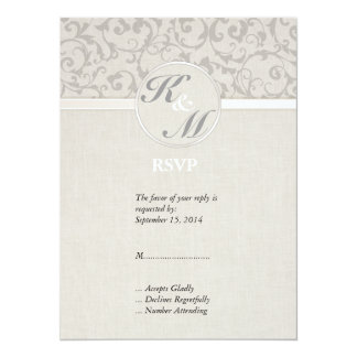 SmartElegance Grey Wedding collection 14 Cm X 19 Cm Invitation Card