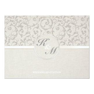 SmartElegance Grey Wedding collection 17 Cm X 22 Cm Invitation Card