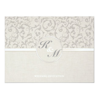 SmartElegance Grey Wedding Invitation (p)