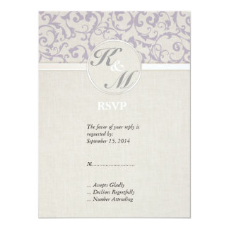 SmartElegance Lavender RSVP 14 Cm X 19 Cm Invitation Card