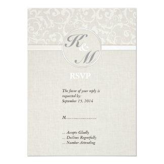 SmartElegance Natural RSVP 14 Cm X 19 Cm Invitation Card