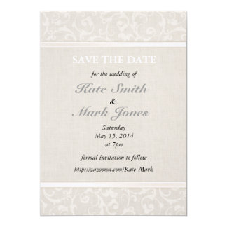 SmartElegance Natural Save the Date 13 Cm X 18 Cm Invitation Card