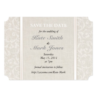 SmartElegance Natural Save the Date Card
