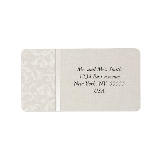 SmartElegance Natural Wedding Collection Address Label