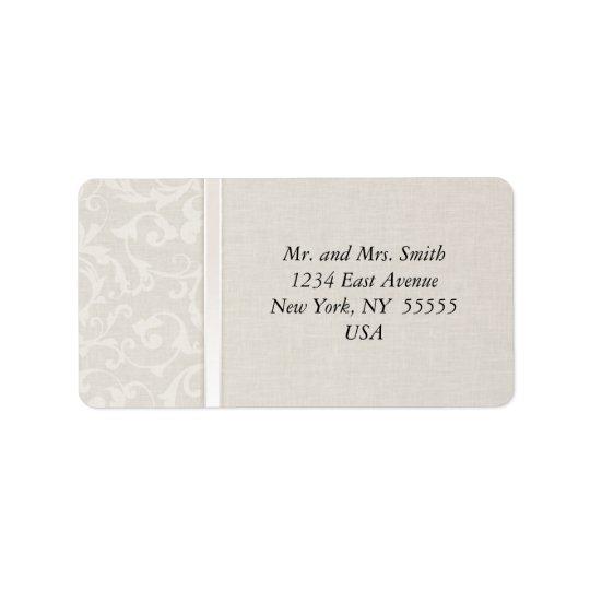 SmartElegance Natural Wedding Collection Label
