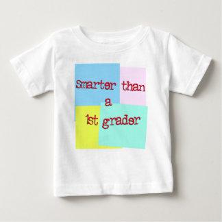 Smarter than a 1st grader baby T-Shirt