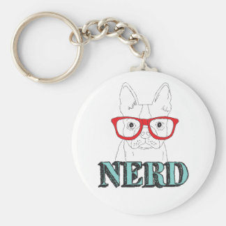 Smartest Boston Terrier Key Ring