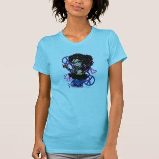 Smartie Pants Peace Sign School Girl w Glasses Art T-Shirt
