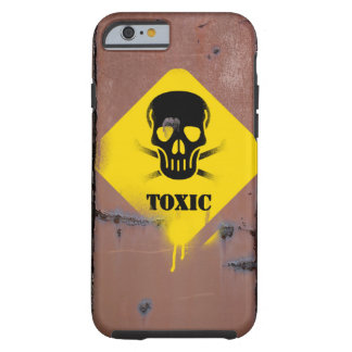 Smartphone case with toxic sign, rusted.