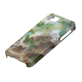 Smartphone cover with food