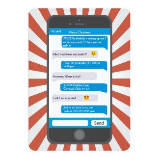 Smartphone Emoji Teen Texting Birthday Invitation