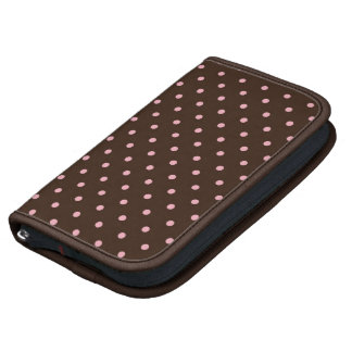 """Smartphone folio """"Brown with small balls """" Planners"""