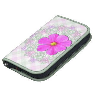 SmartPhone Folio - Dark Pink Cosmos on Lace Latt Organizers